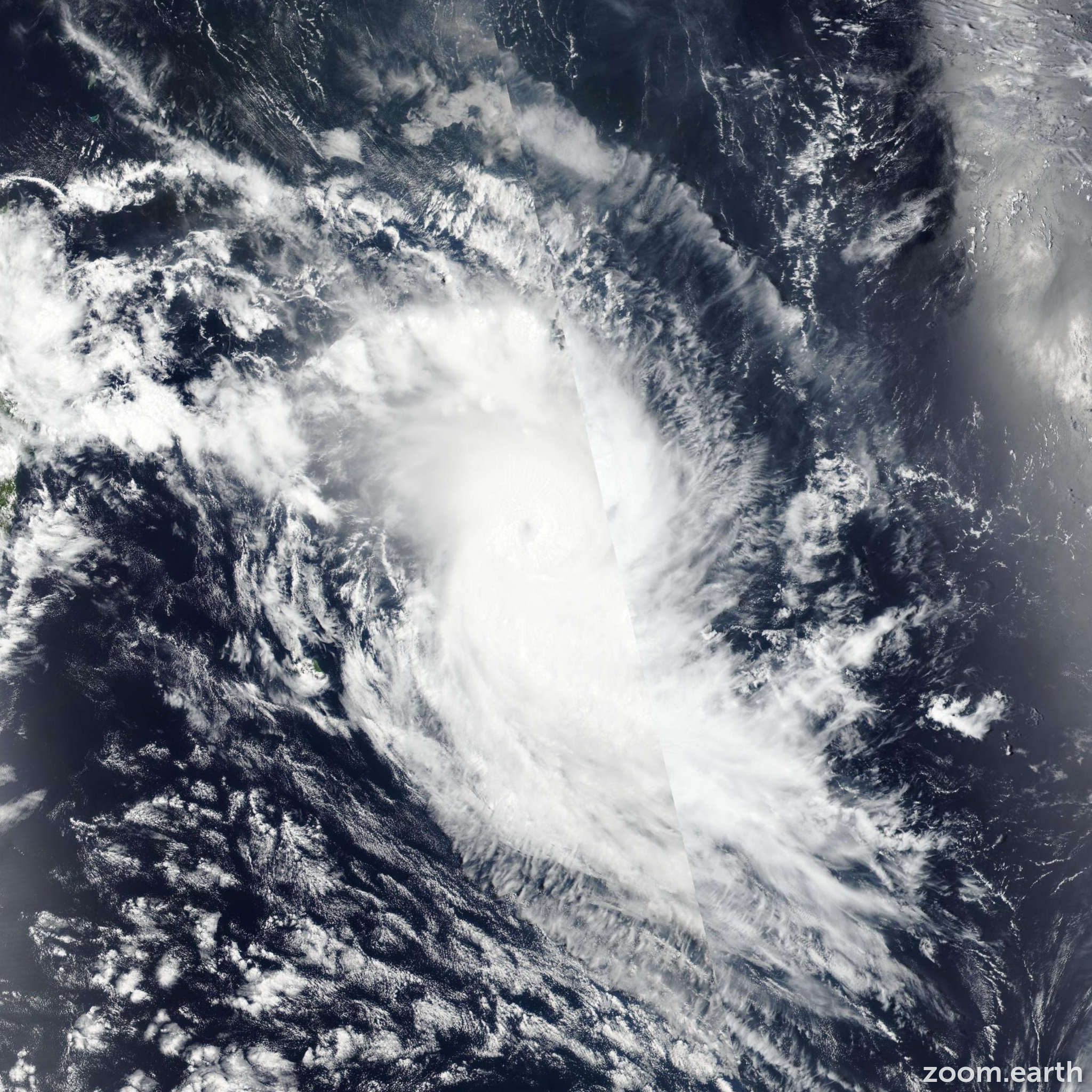 Satellite image of Cyclone Gelena 2019