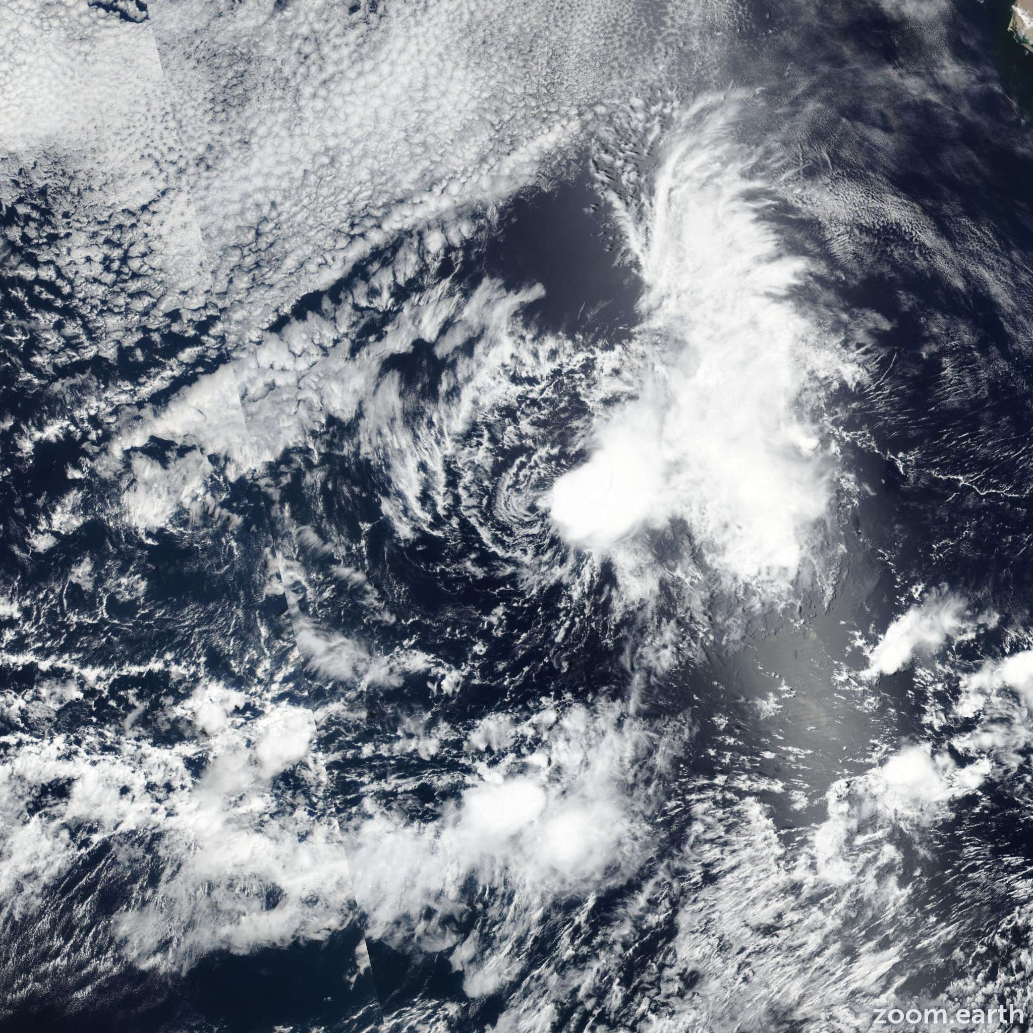 Satellite image of Storm Gil 2019