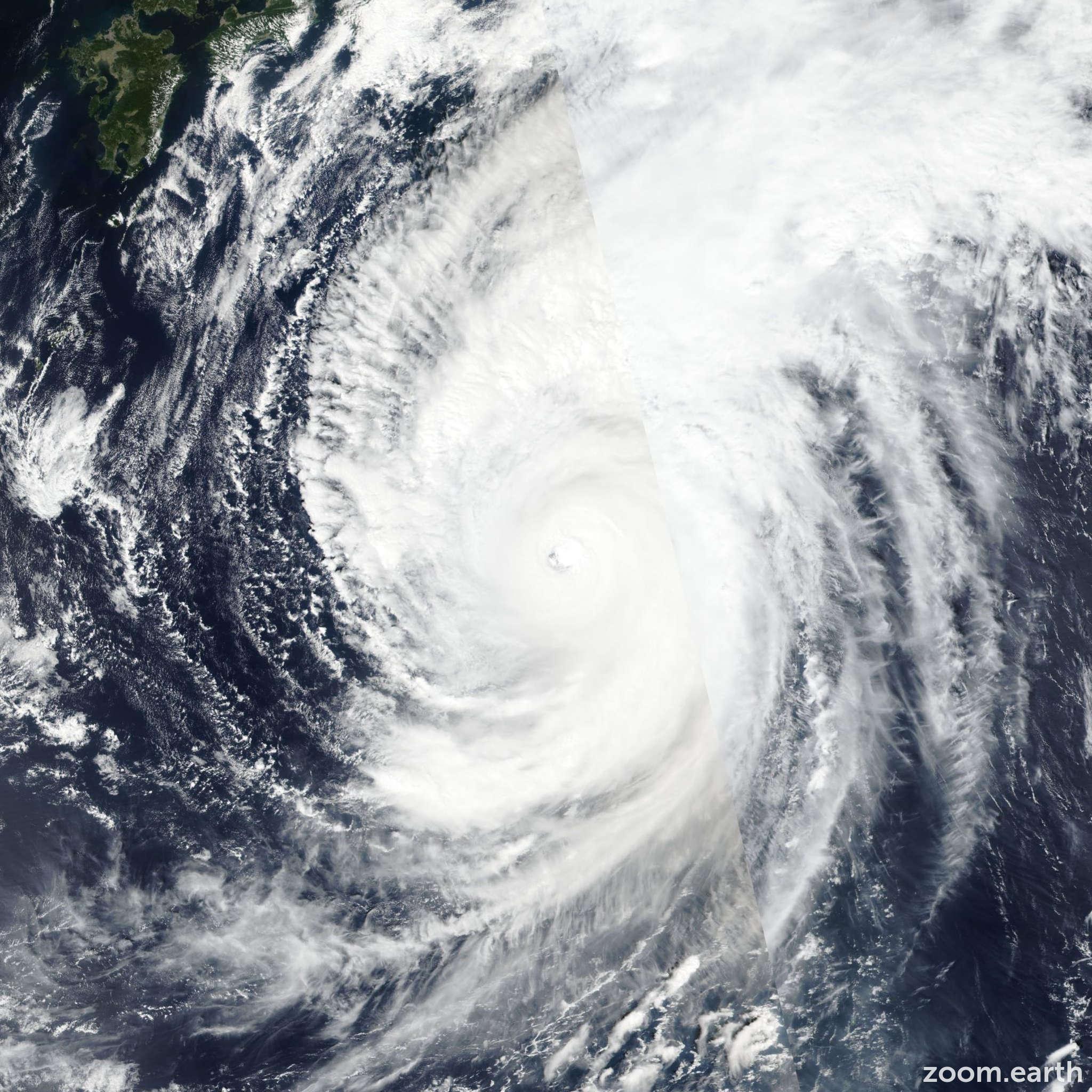 Satellite image of Typhoon Hagibis 2019