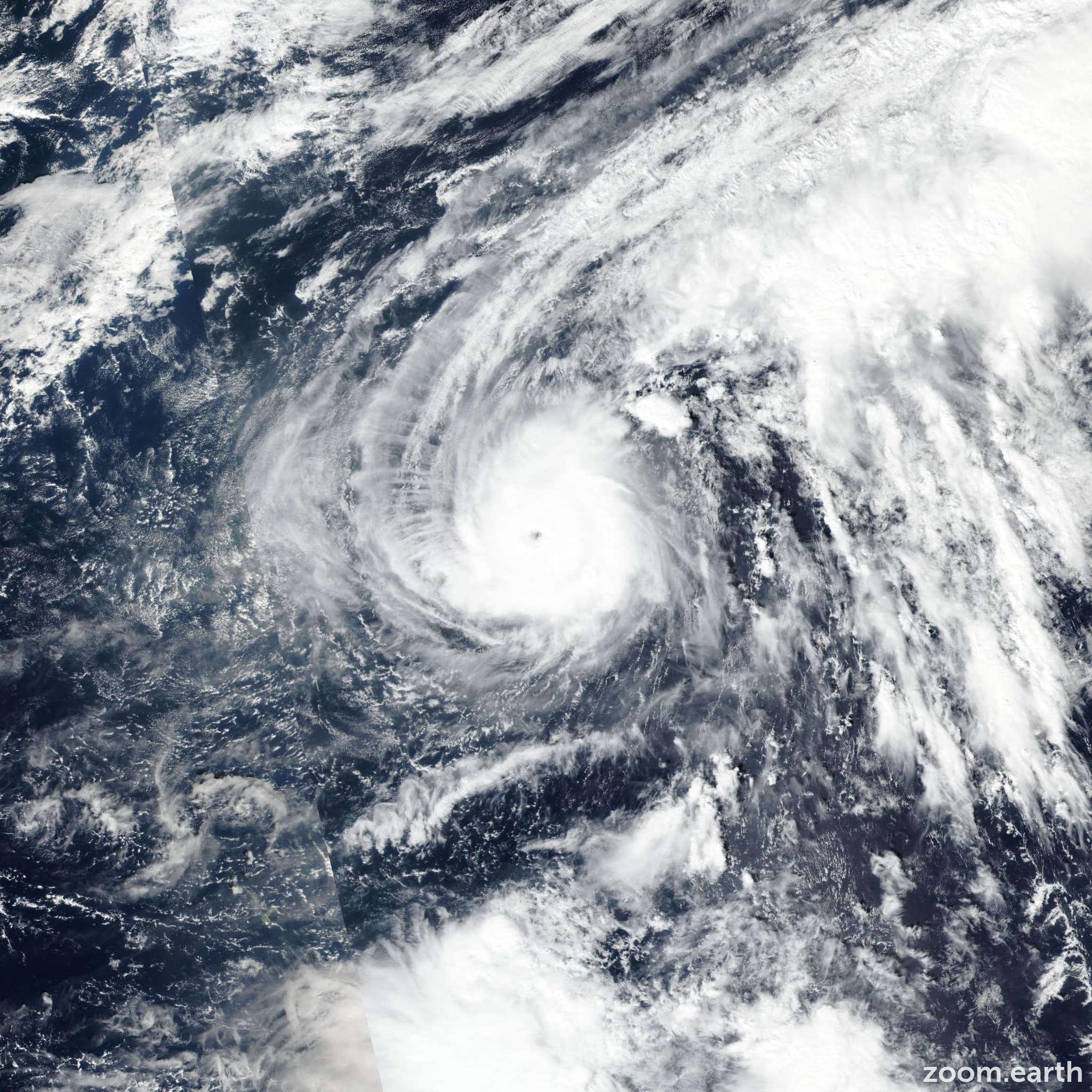 Satellite image of Typhoon Halong 2019