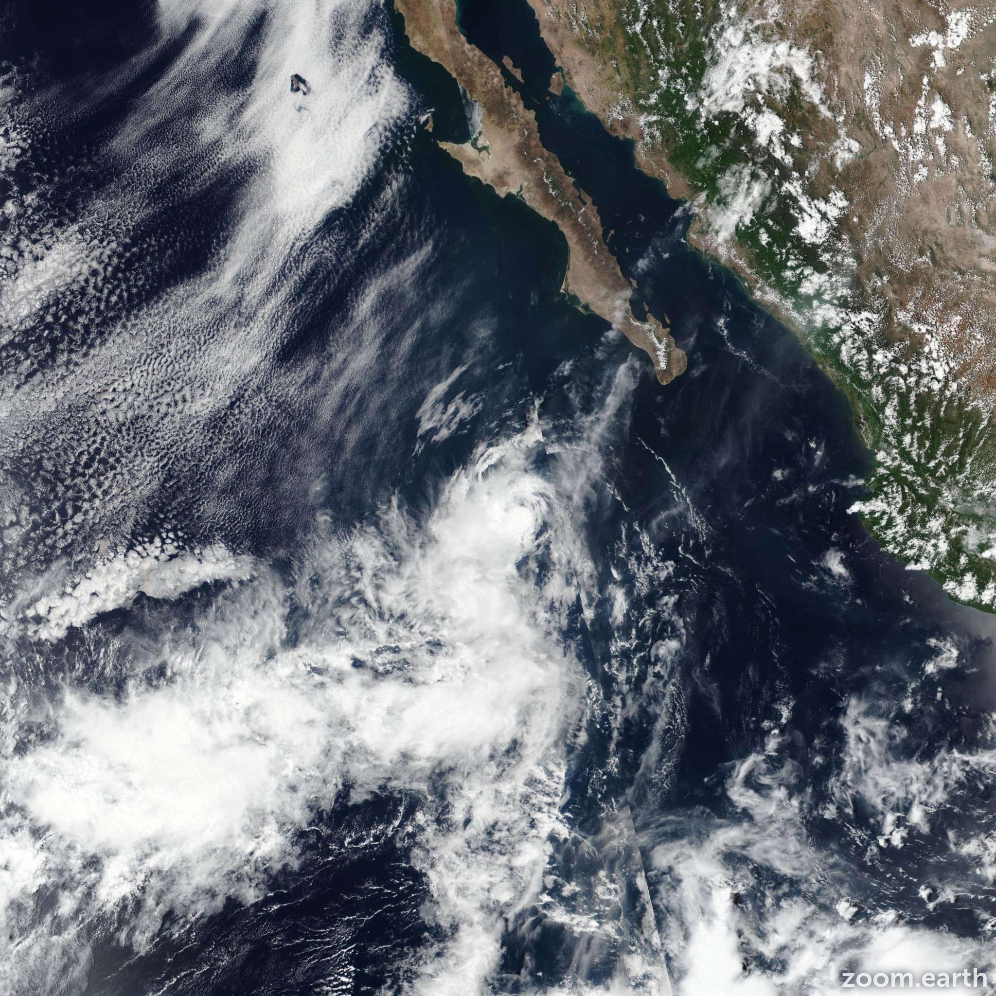 Satellite image of Storm Henriette 2019