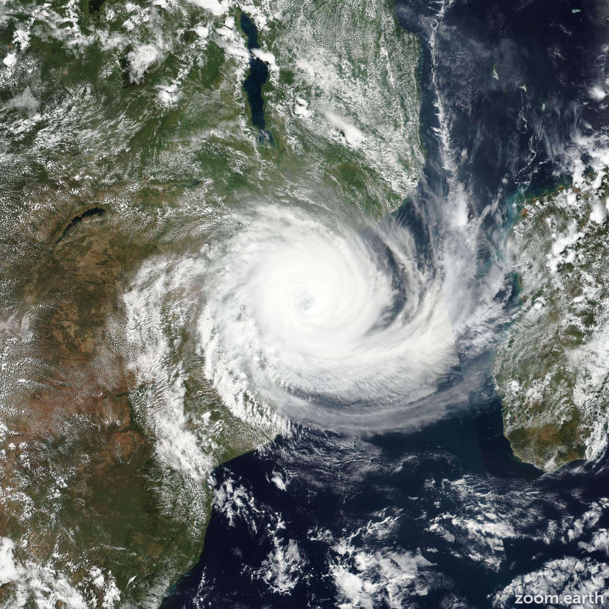 Satellite image of Cyclone Idai 2019