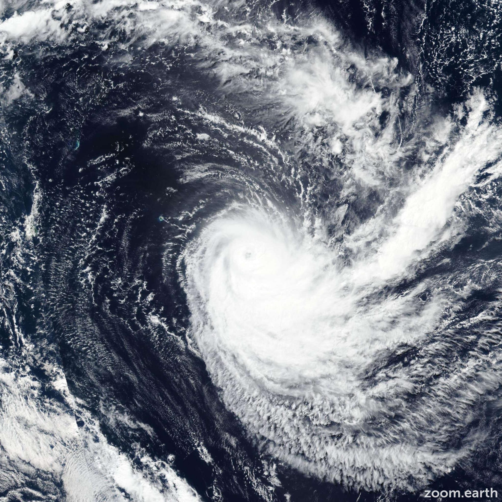 Satellite image of Cyclone Joaninha 2019