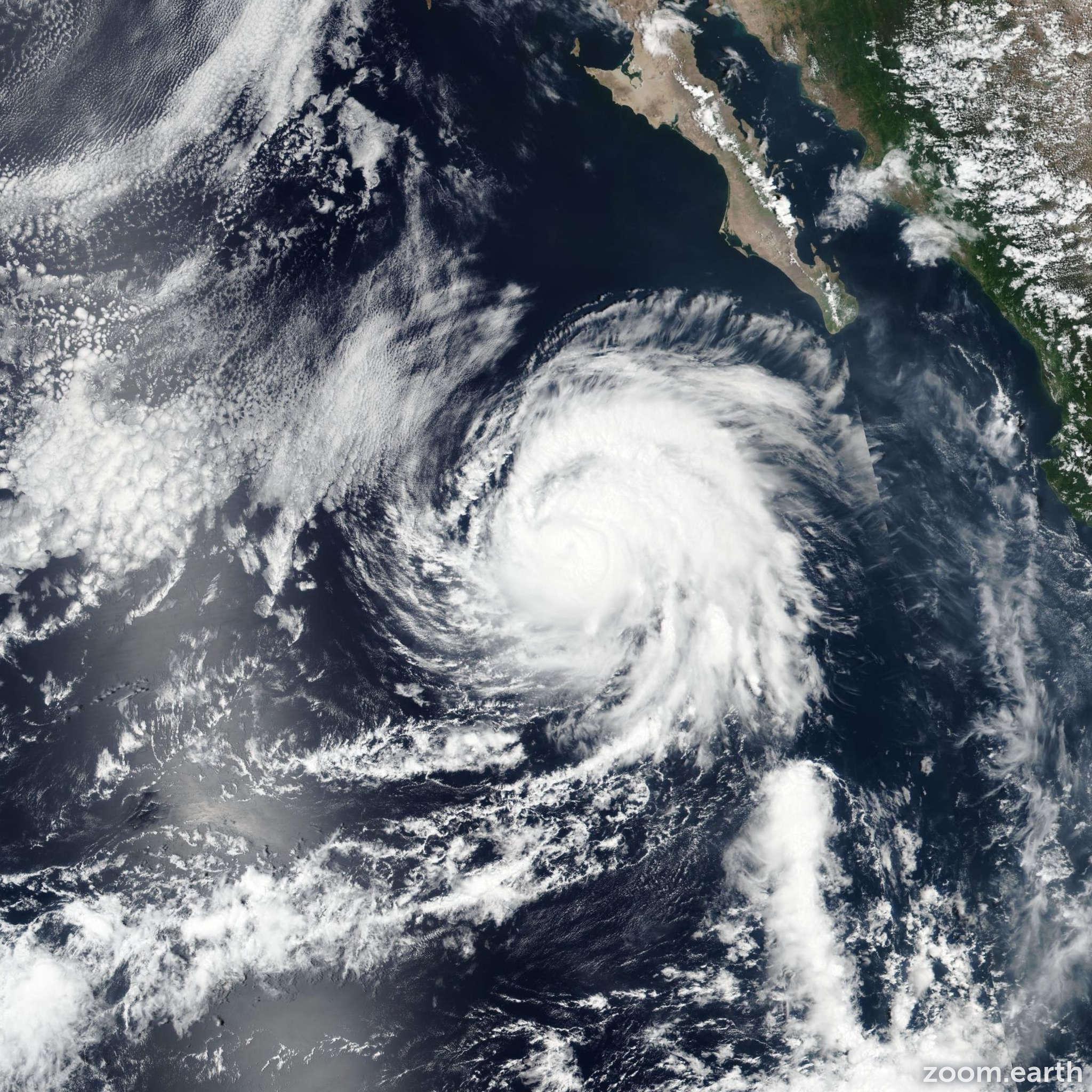Satellite image of Hurricane Juliette 2019