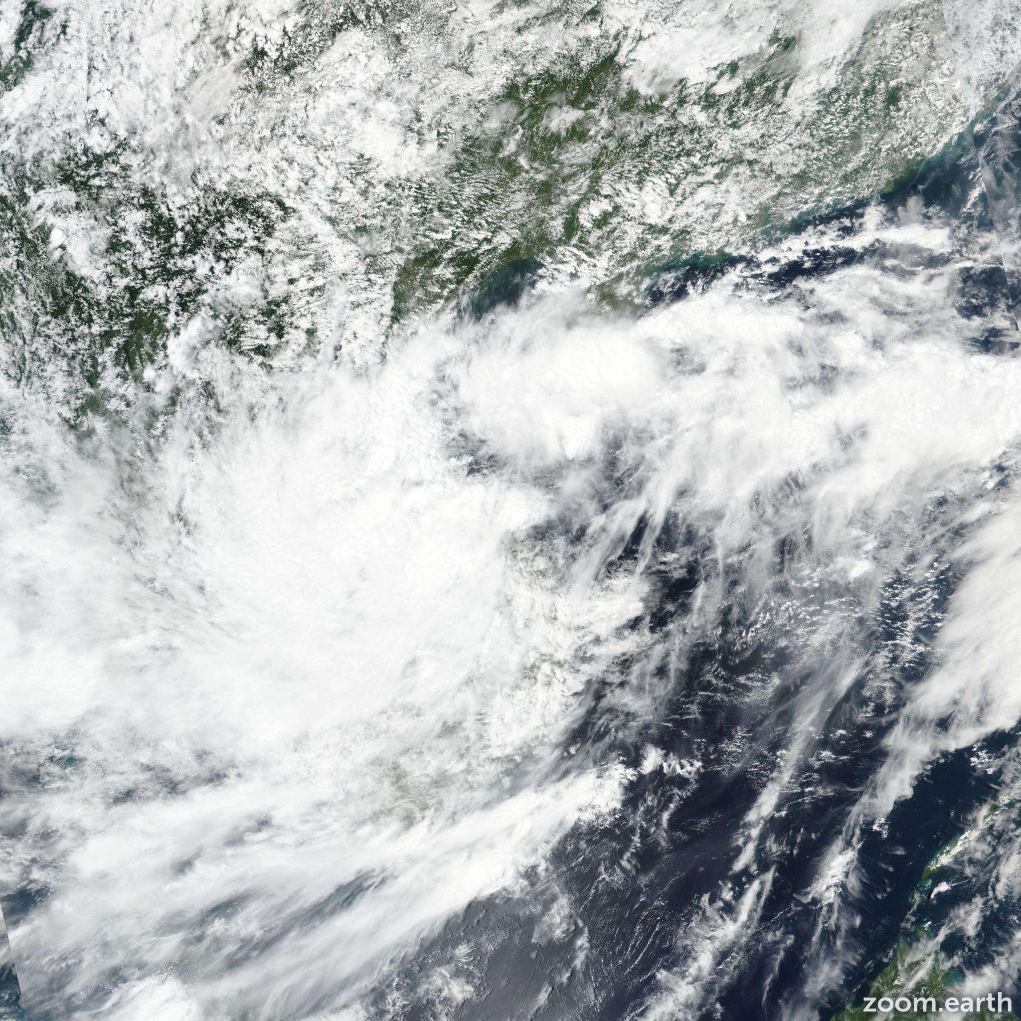 Satellite image of Depression Kajiki 2019