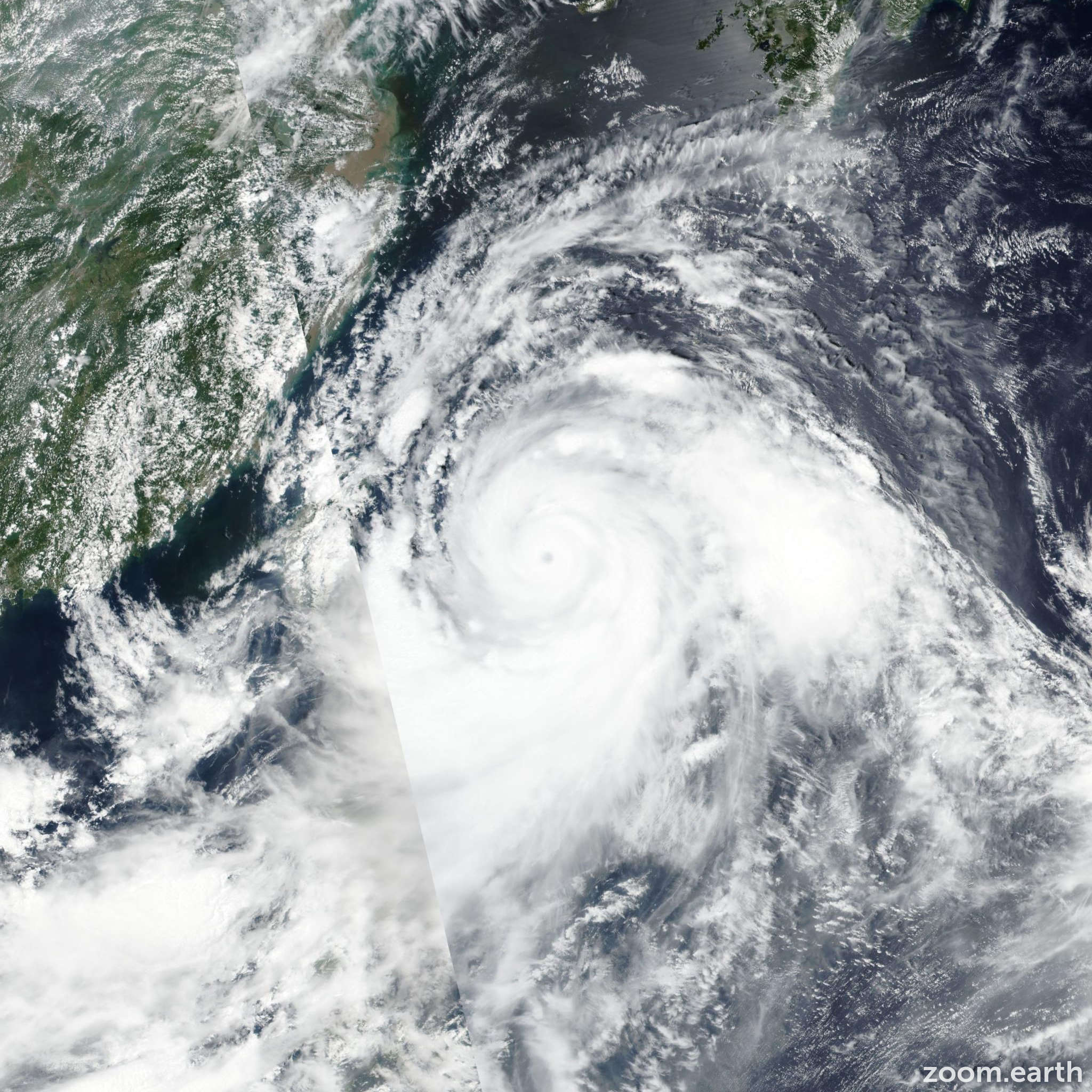 Satellite image of Typhoon Lekima (Hanna) 2019