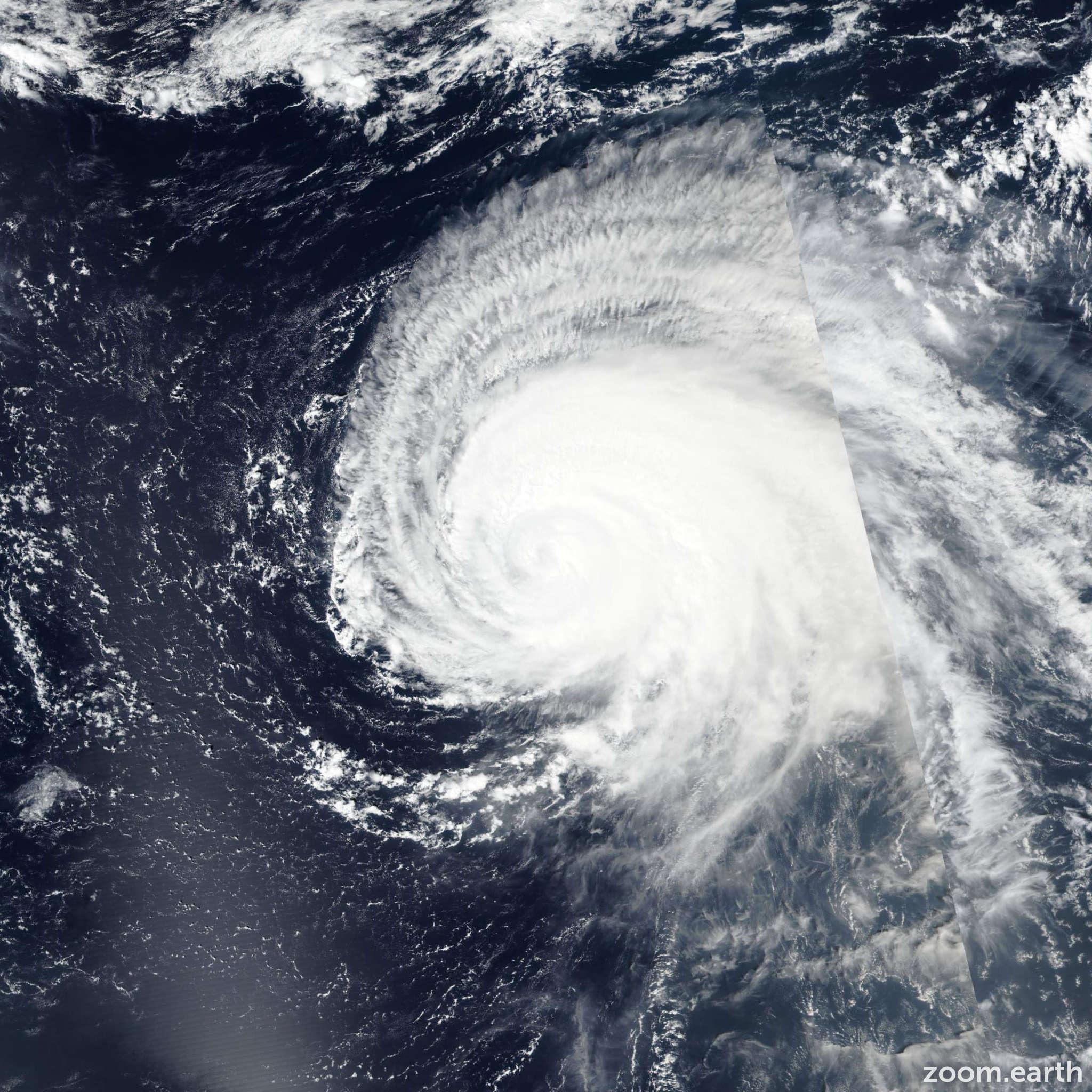 Satellite image of Hurricane Lorenzo 2019
