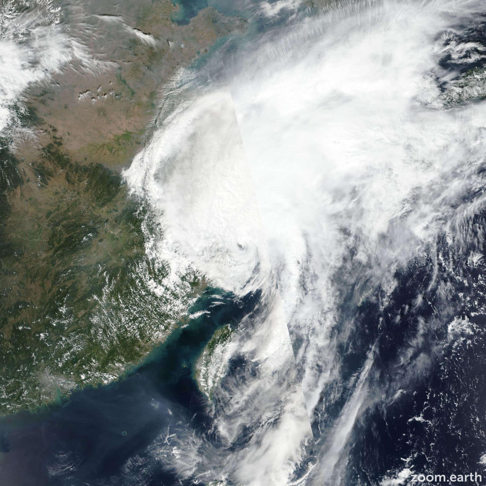 Satellite image of Typhoon Mitag (Onyok) 2019