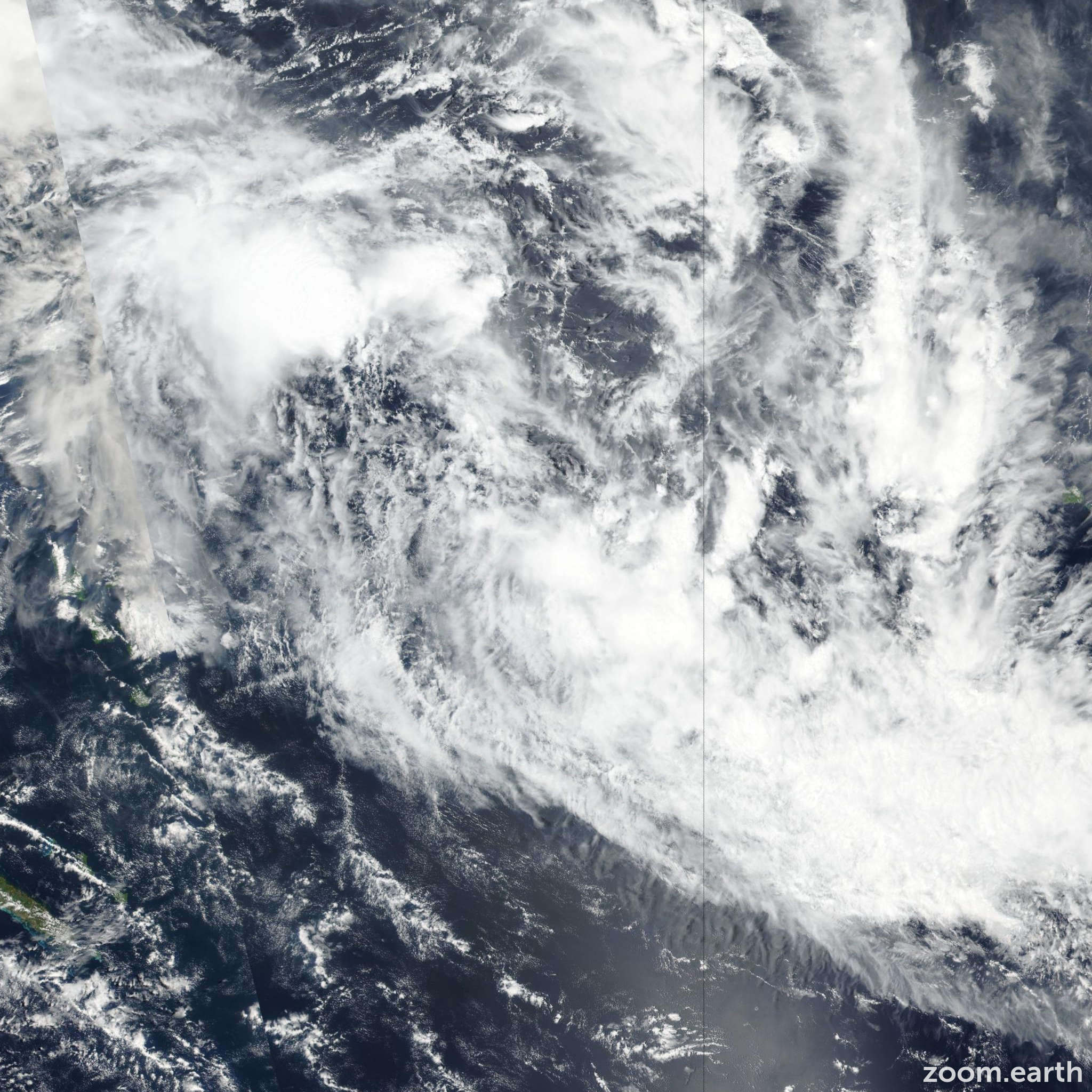 Satellite image of Cyclone Mona 2019