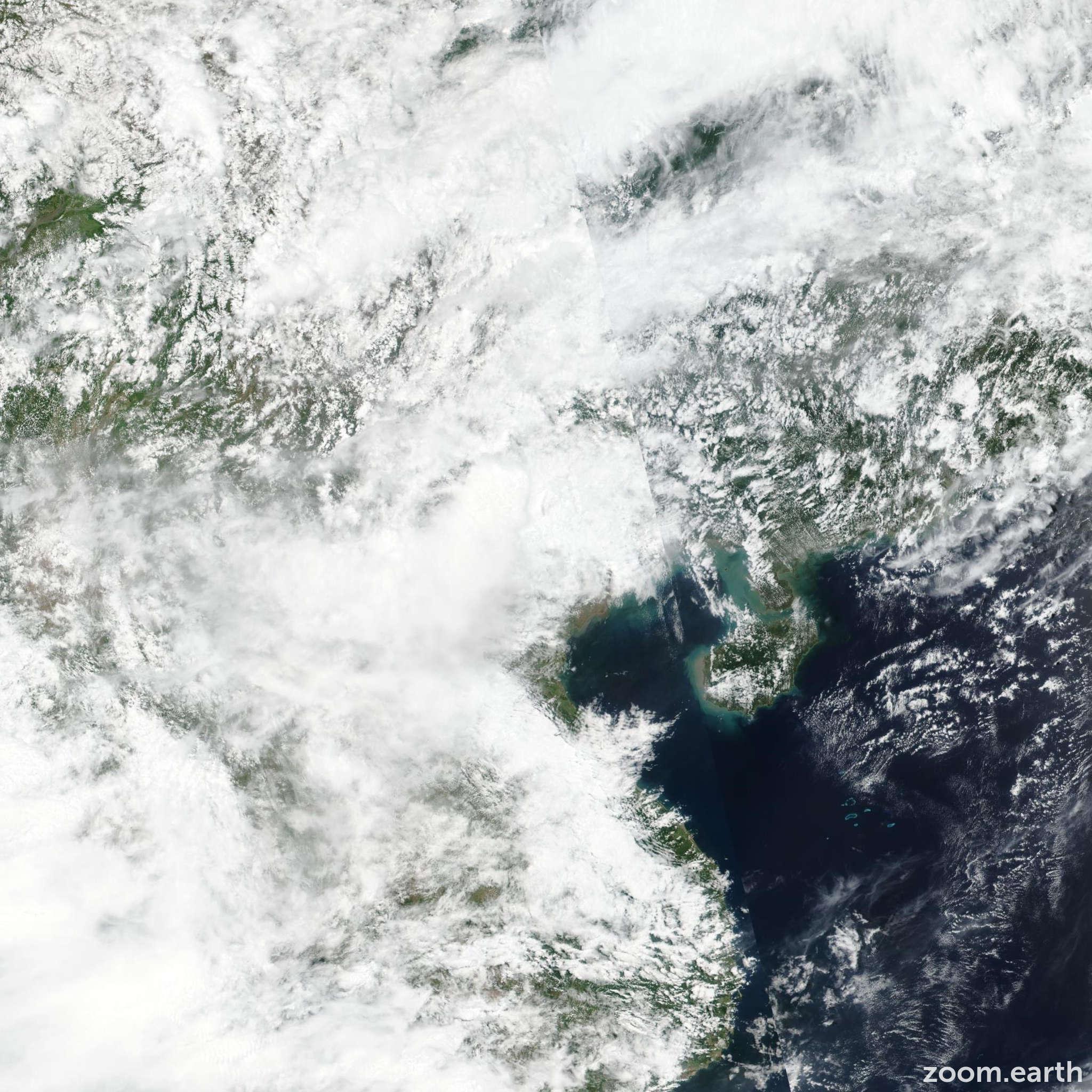 Satellite image of Storm Mun 2019