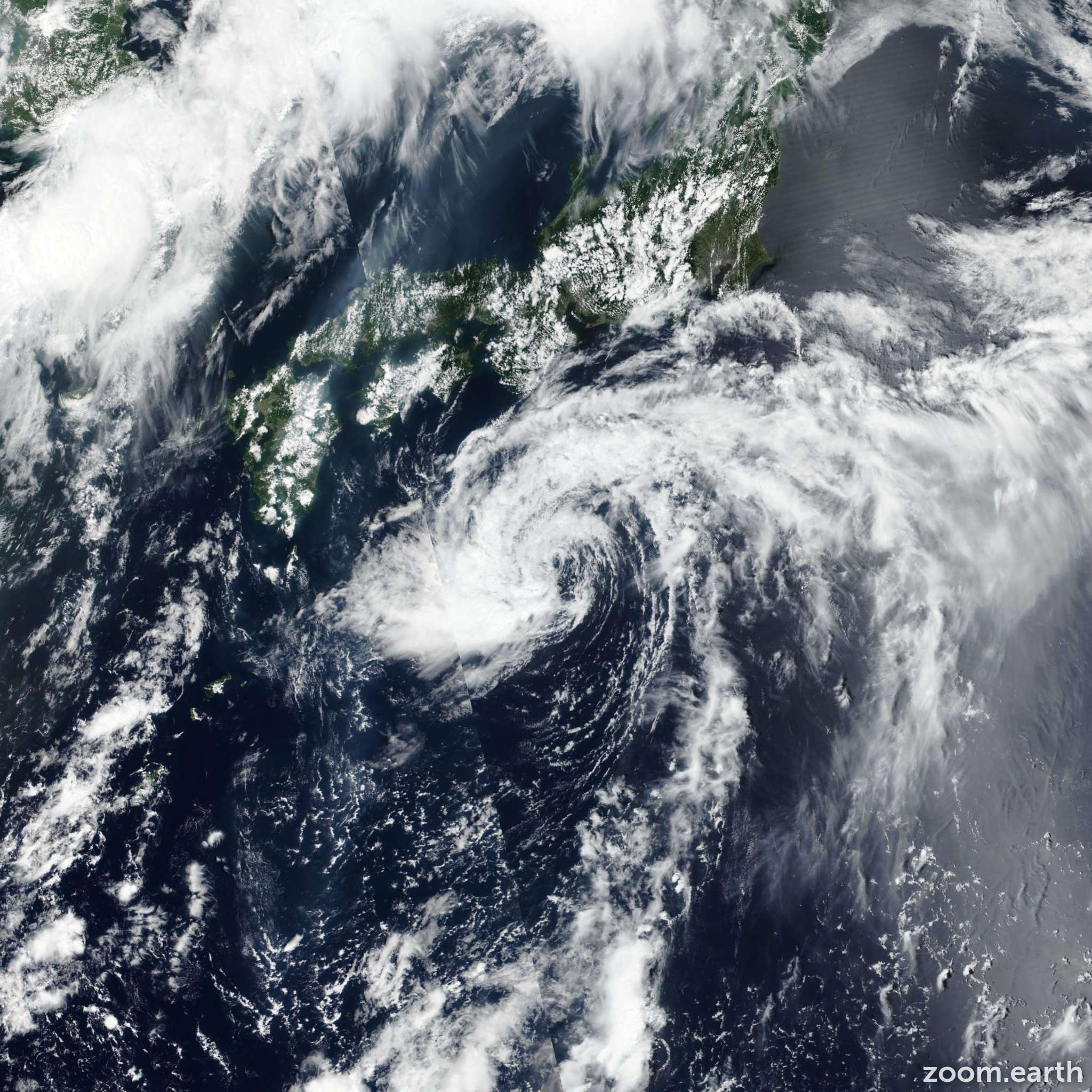 Satellite image of Storm Nari 2019