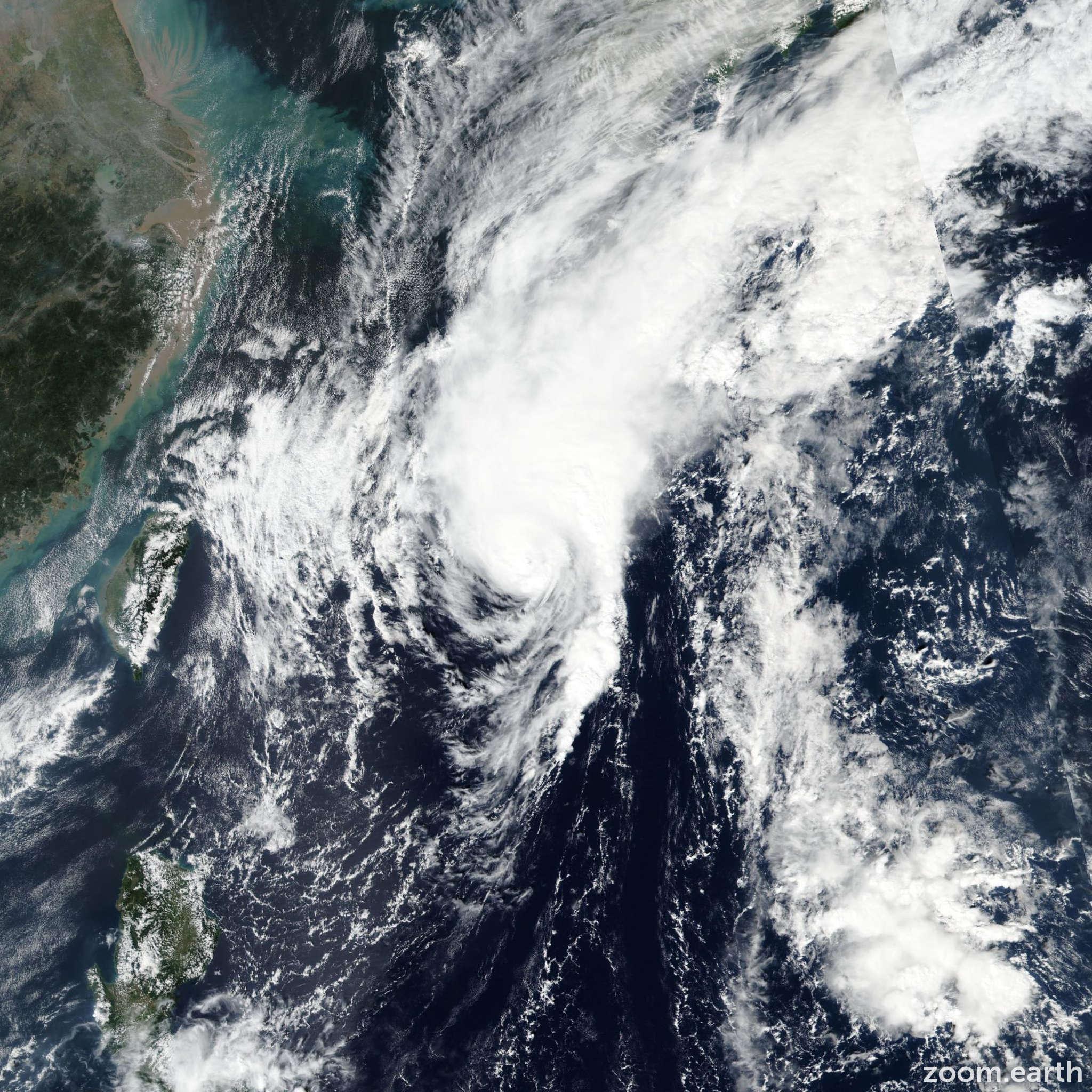Satellite image of Typhoon Neoguri (Perla) 2019