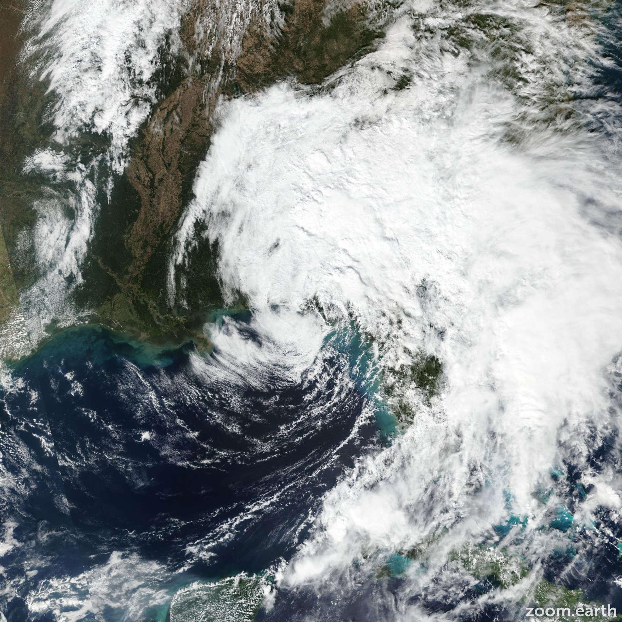 Satellite image of Storm Nestor 2019