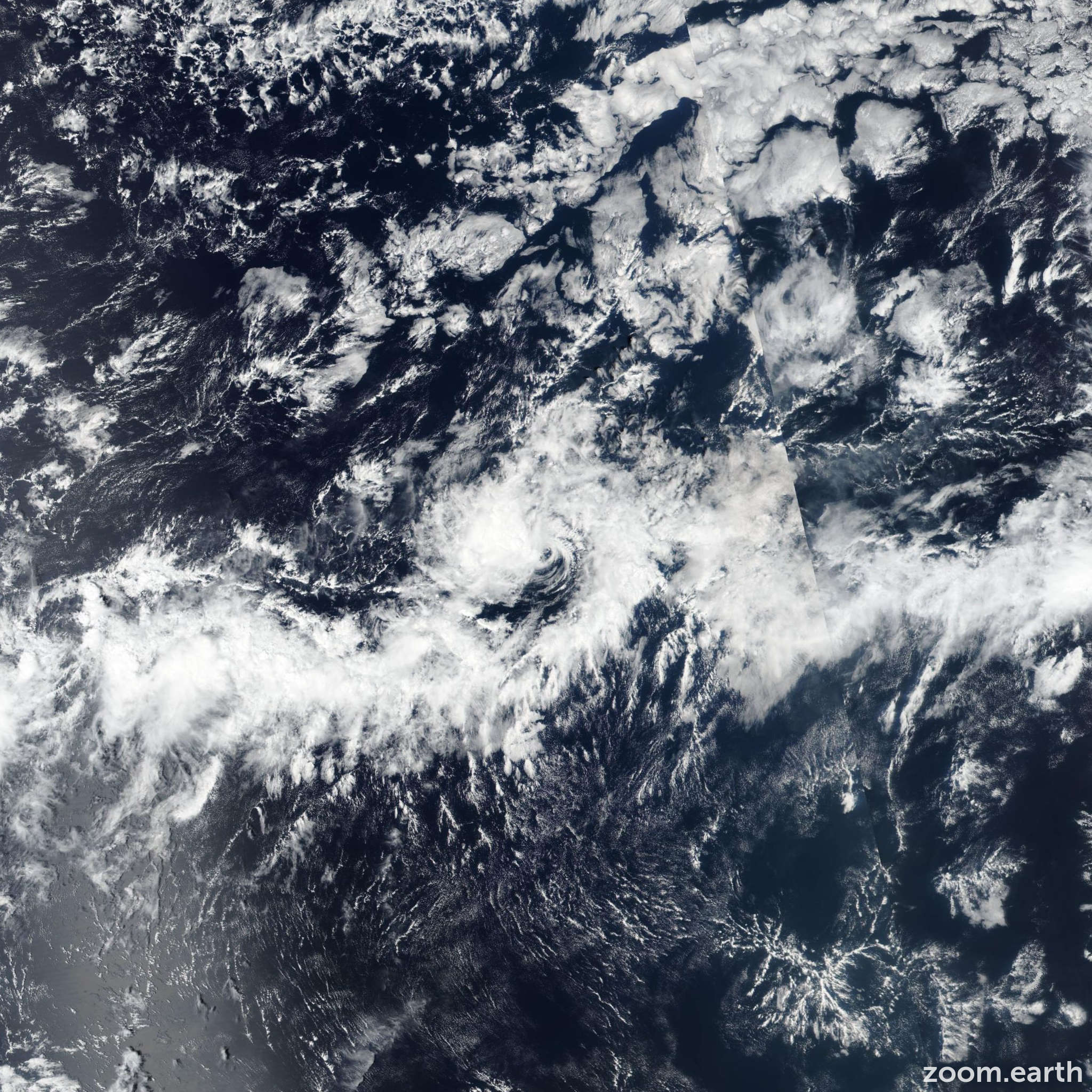 Satellite image of Storm Octave 2019