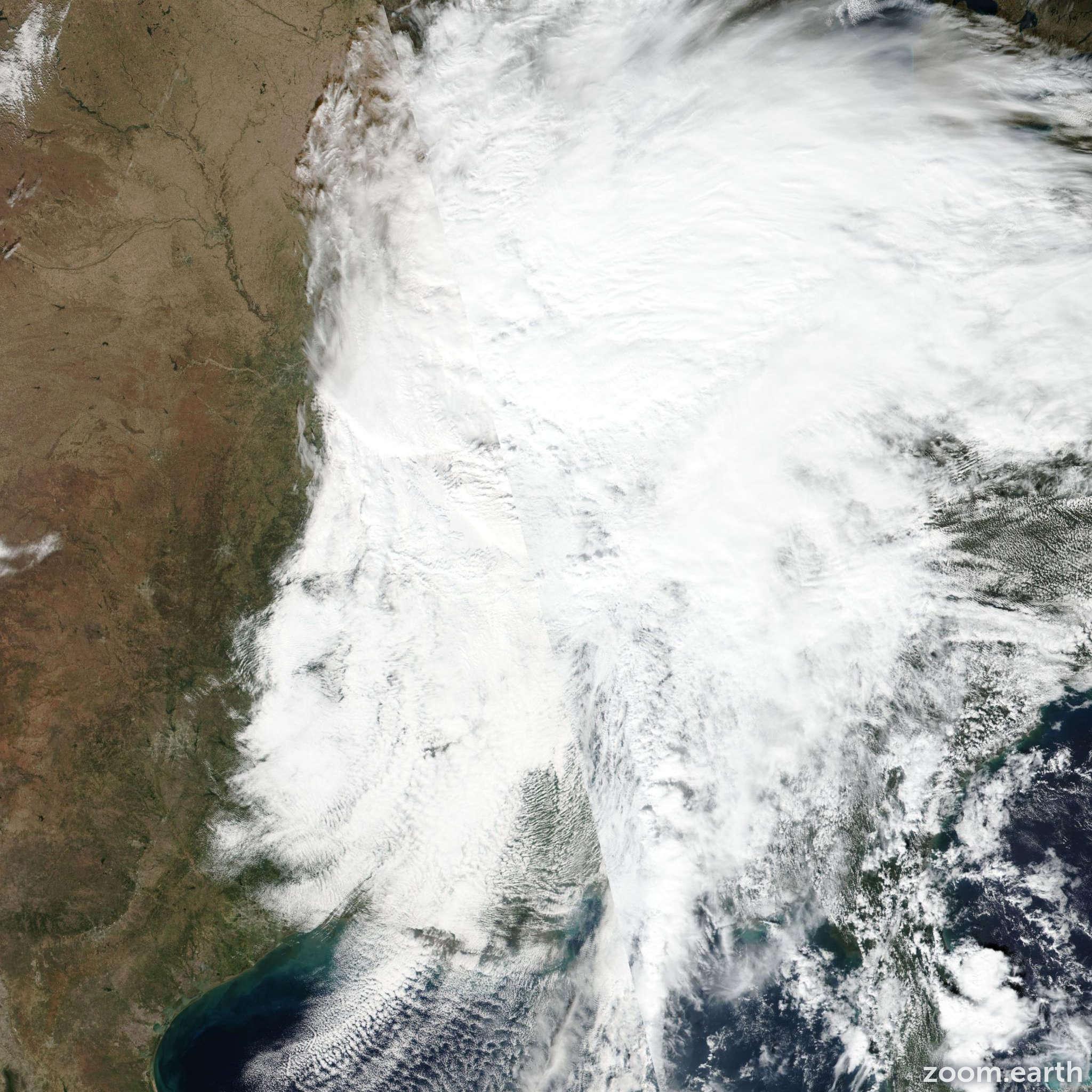 Satellite image of Storm Olga 2019