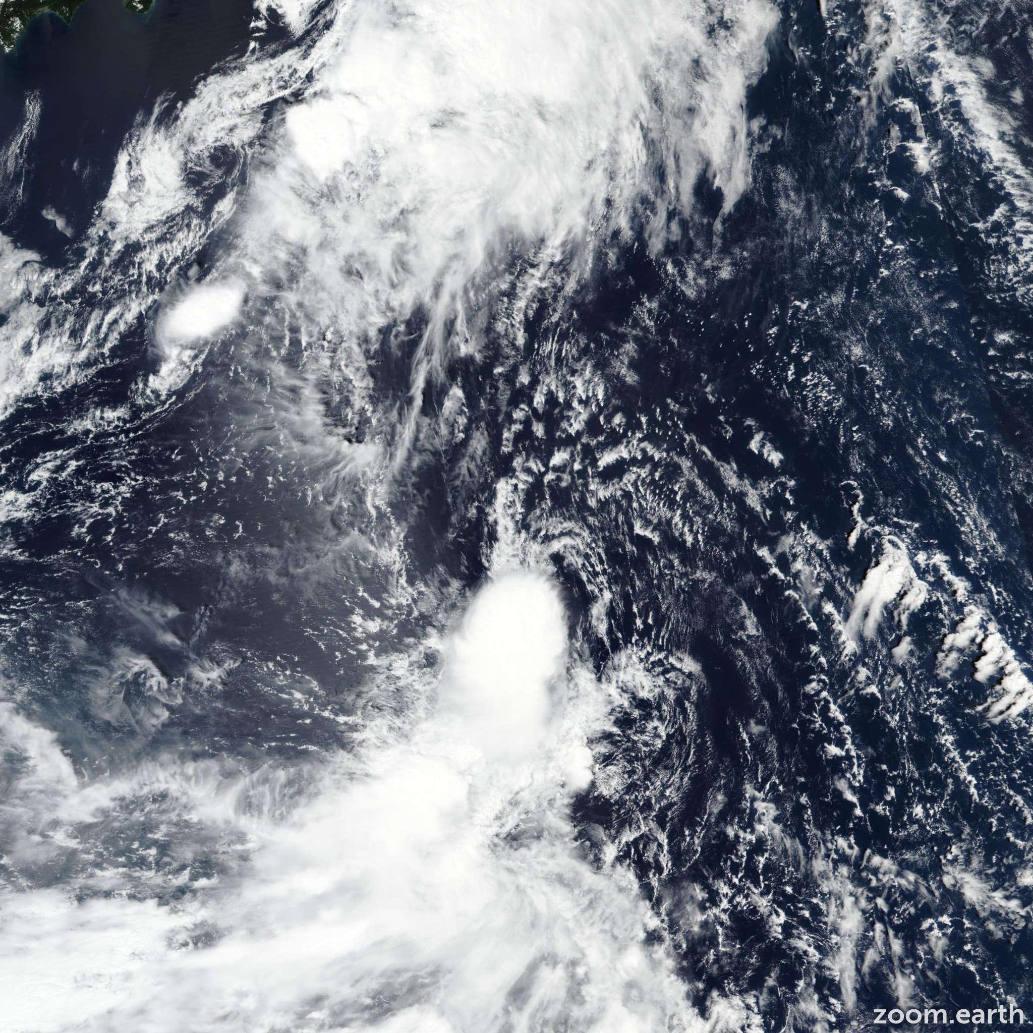 Satellite image of Storm Peipah 2019