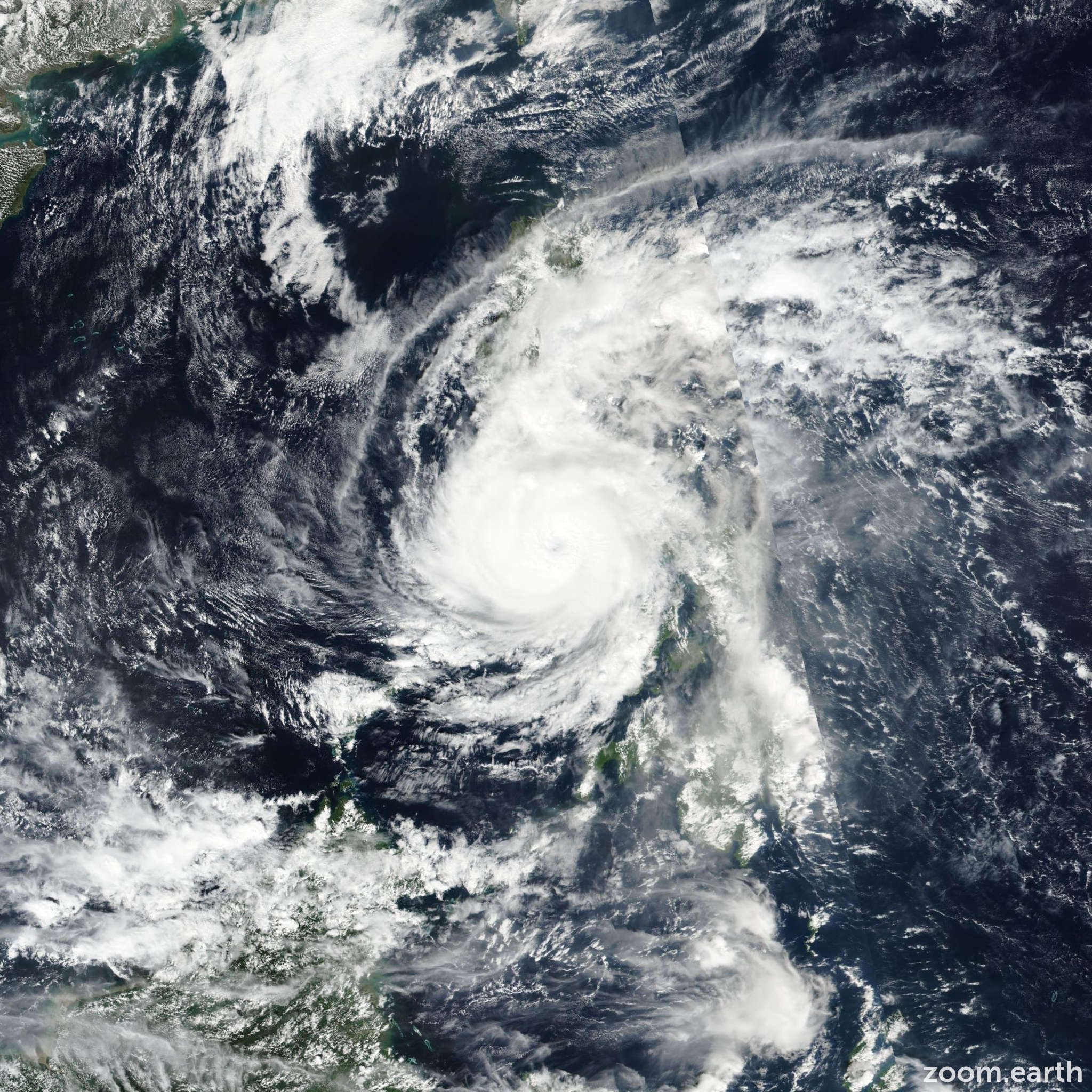 Satellite image of Typhoon Phanfone (Ursula) 2019