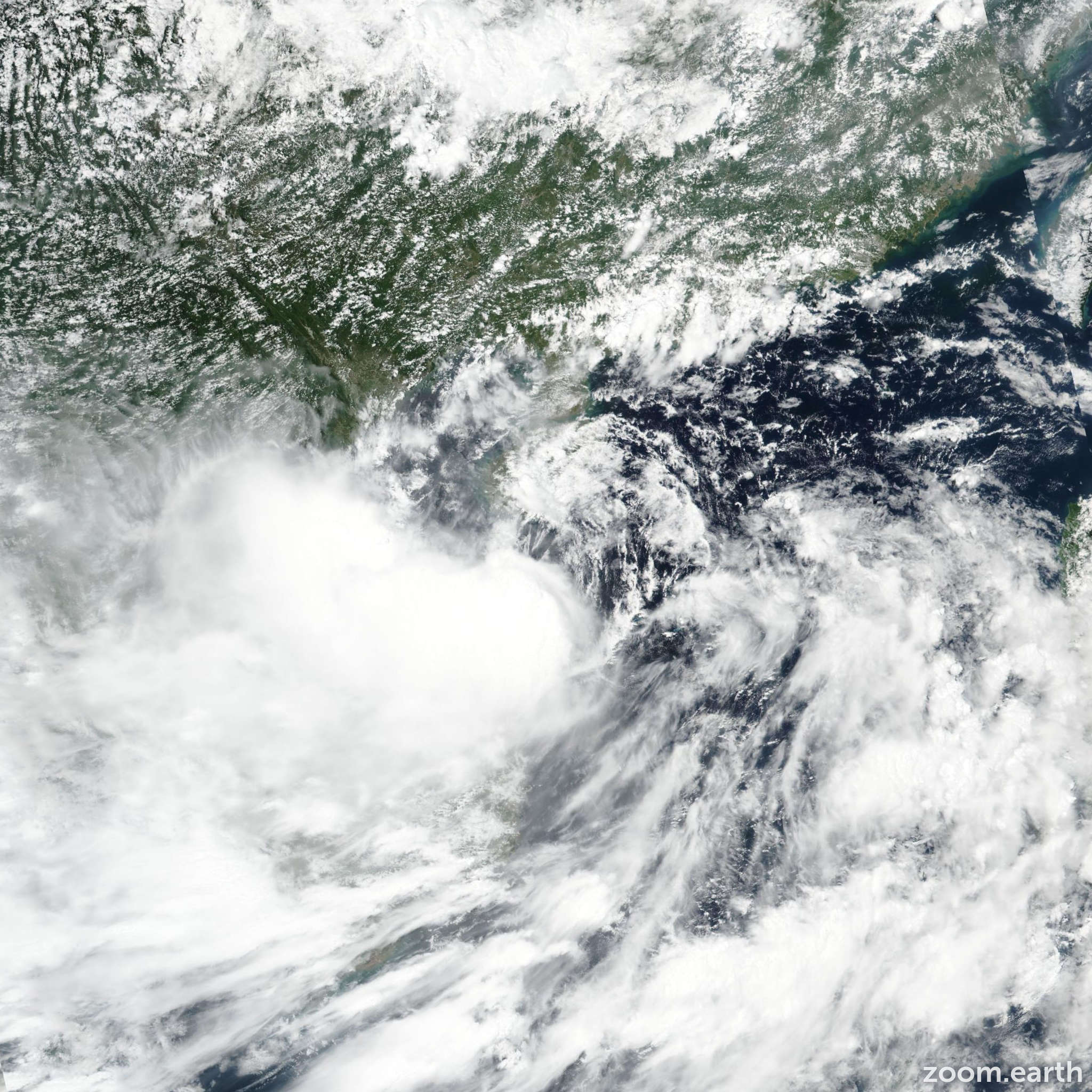 Satellite image of Storm Podul (Jenny) 2019