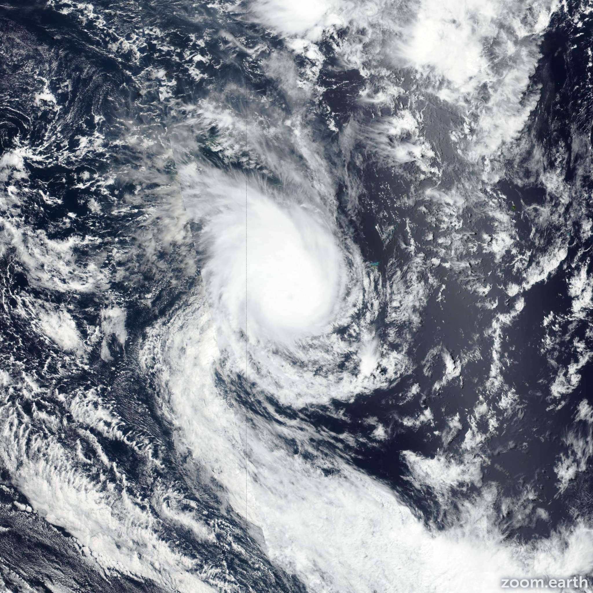 Satellite image of Cyclone Pola 2019
