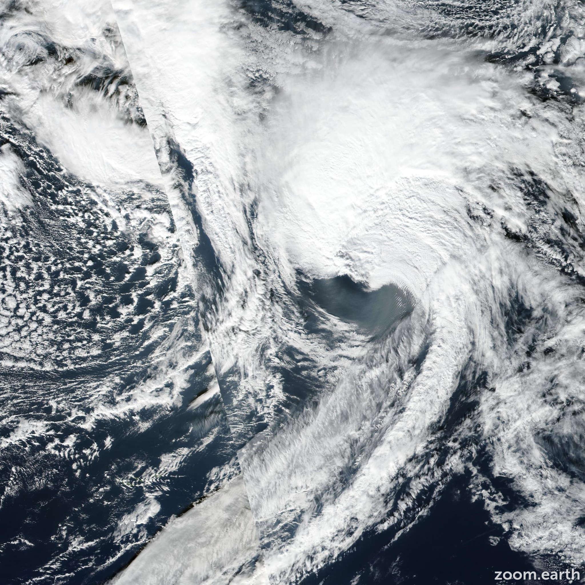 Satellite image of Storm Sebastien 2019