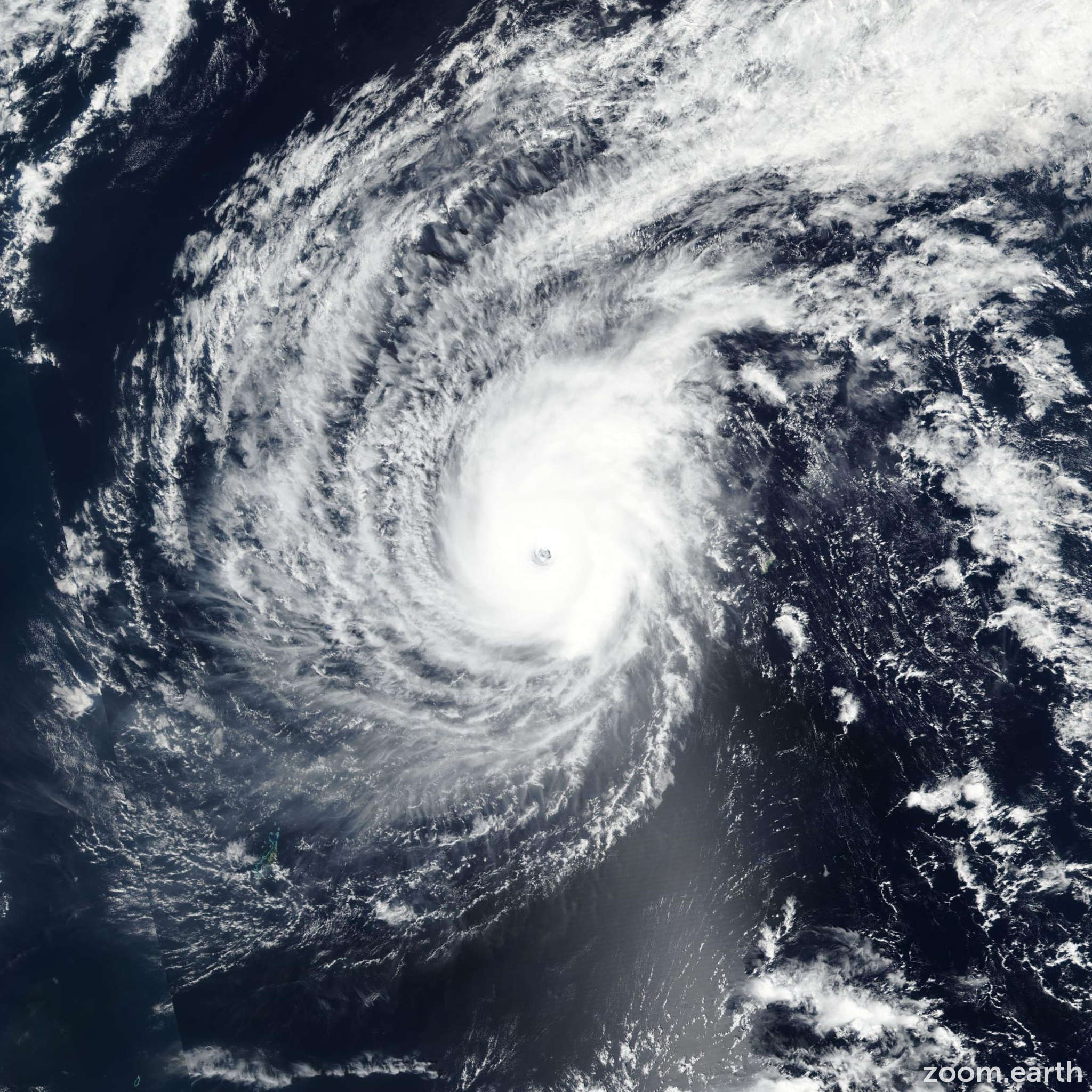 Satellite image of Typhoon Wutip 2019