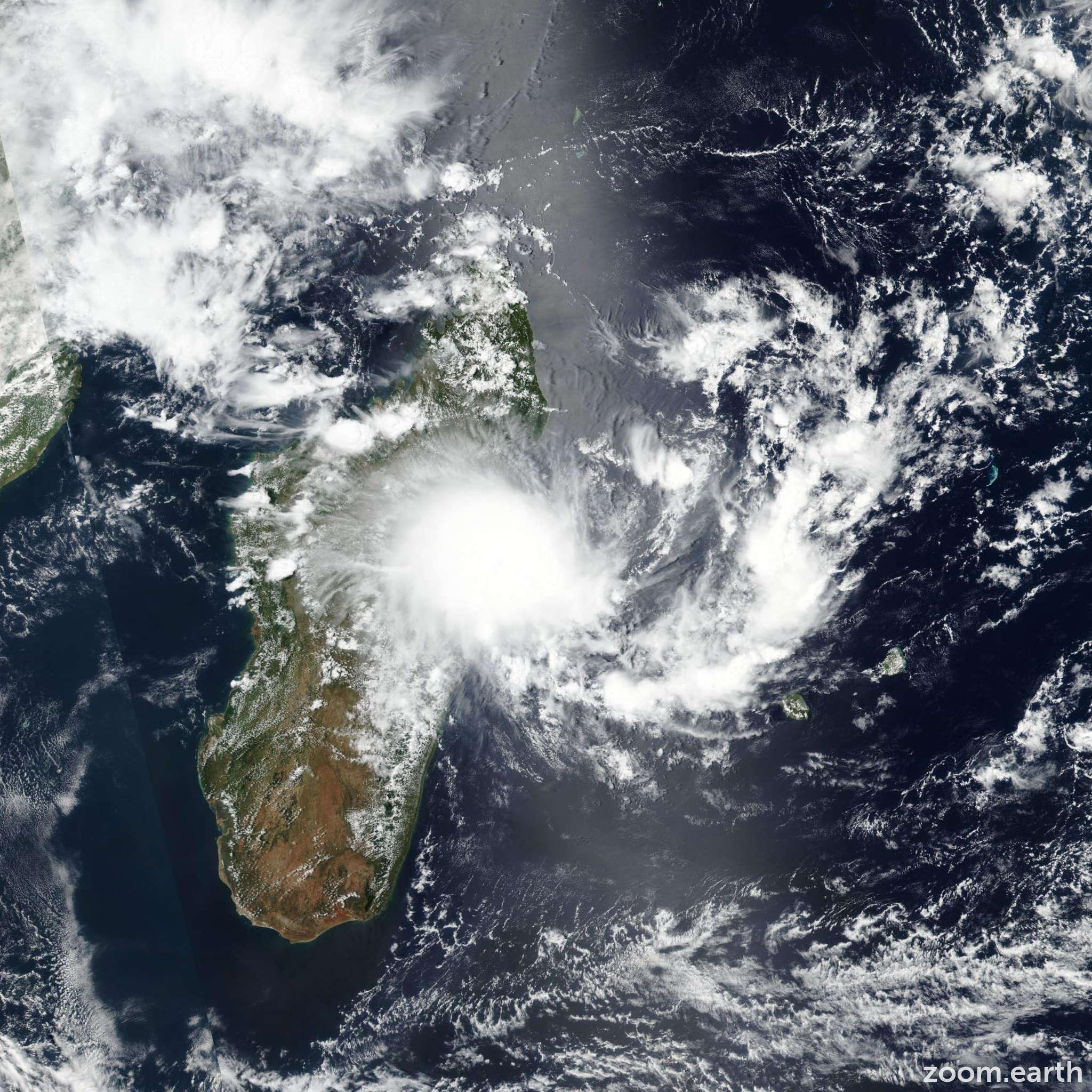 Satellite image of Storm Francisco 2020