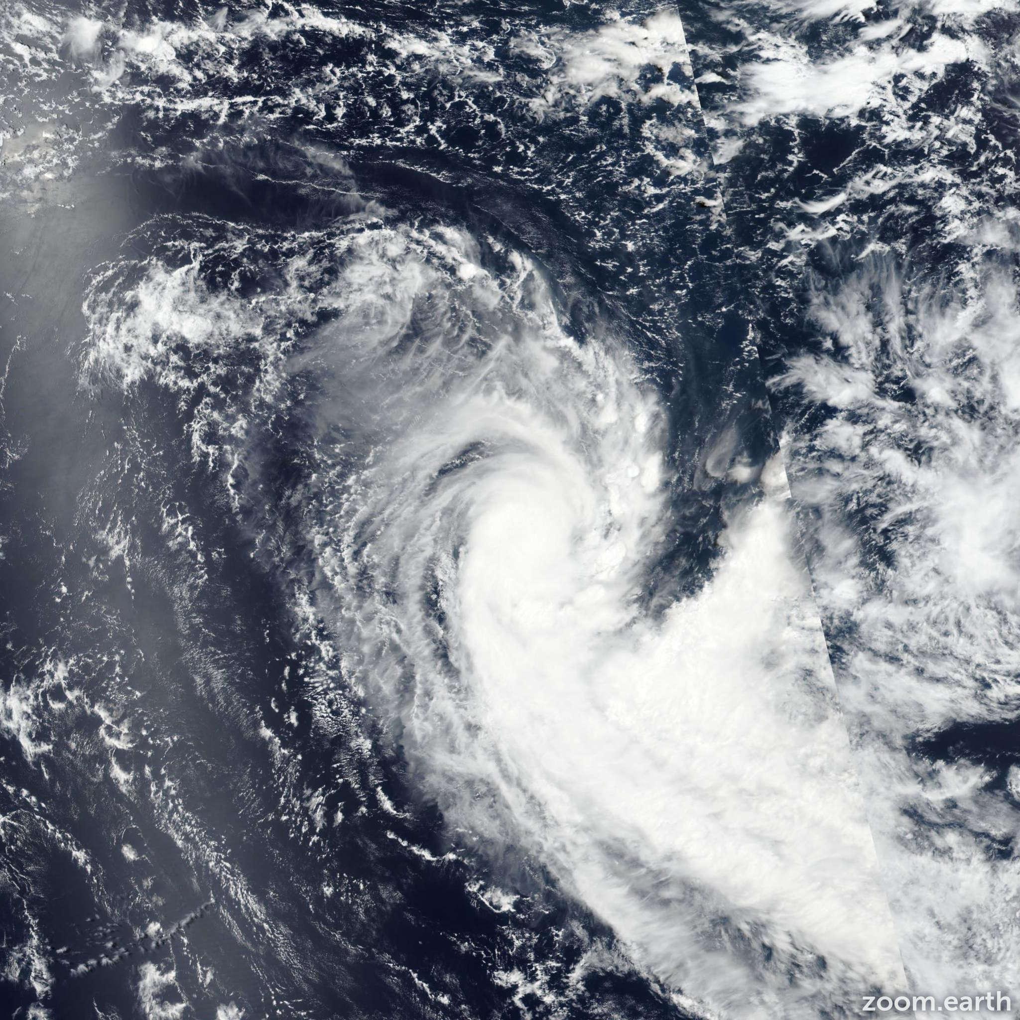 Satellite image of Cyclone Gabekile 2020