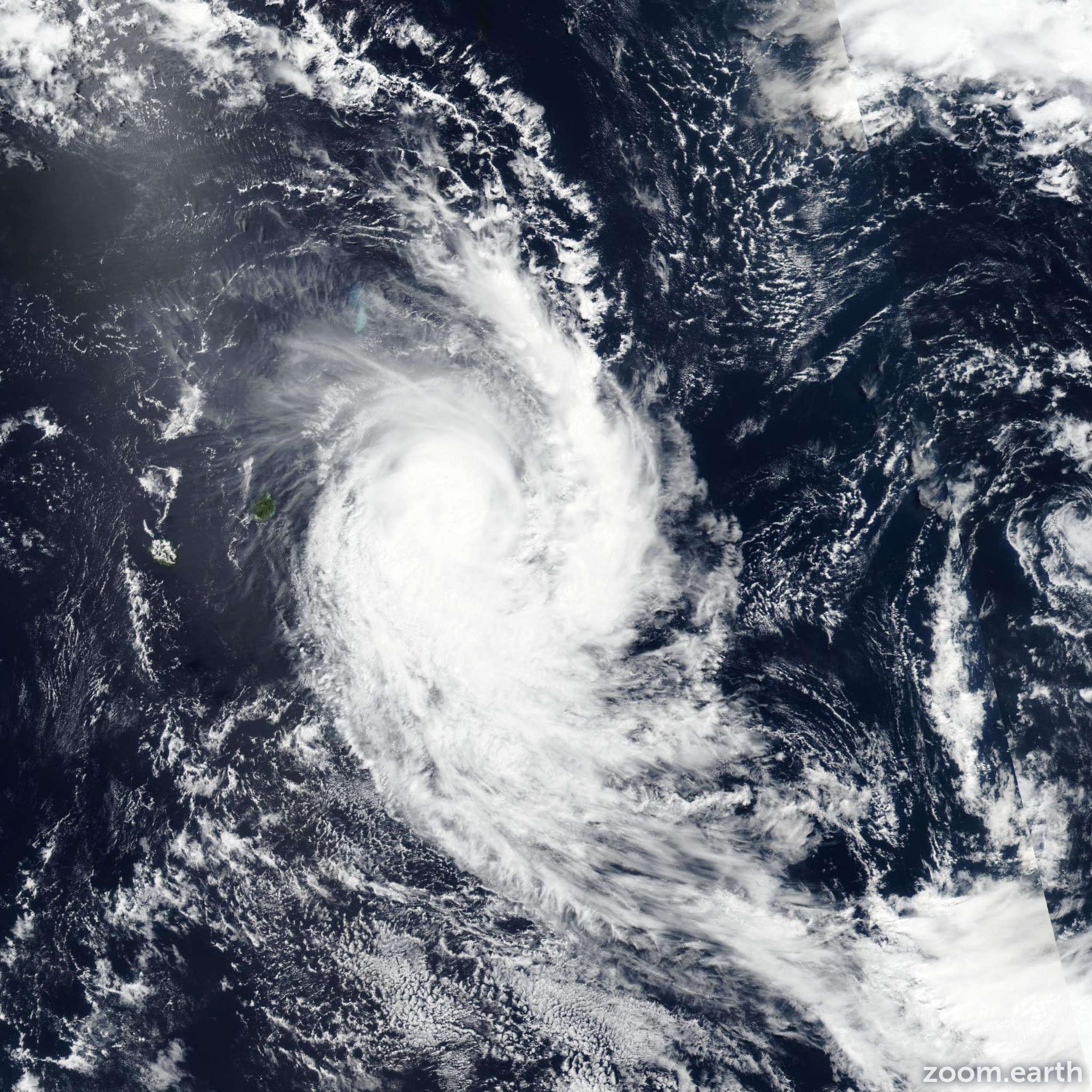 Satellite image of Cyclone Herold 2020