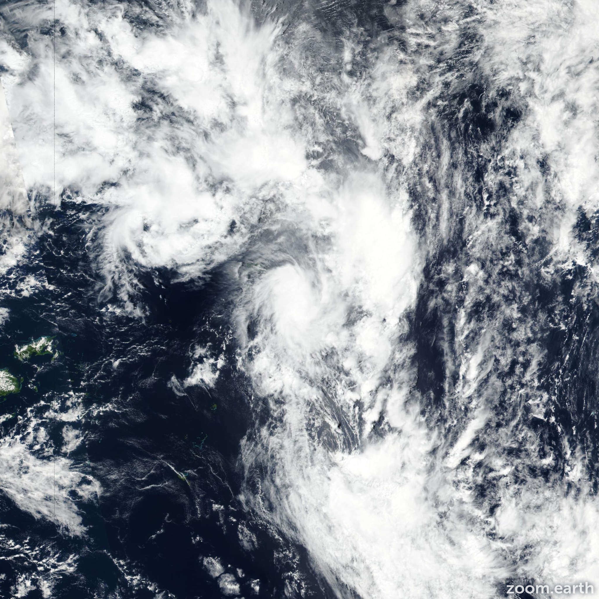 Satellite image of Cyclone Vicky 2020