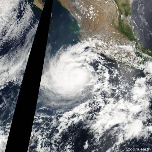 Satellite image of Hurricane Aletta 2000