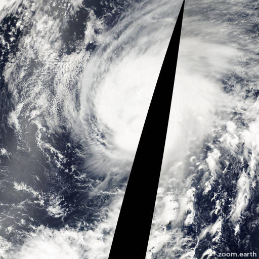 Satellite image of Typhoon Damrey 2000