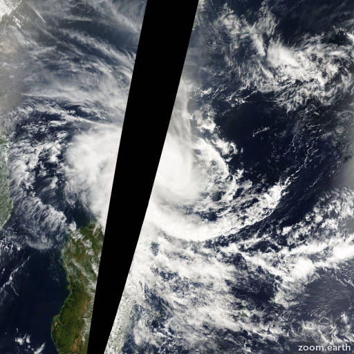 Satellite image of Storm Gloria 2000