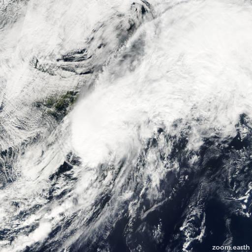 Satellite image of Storm Helene 2000