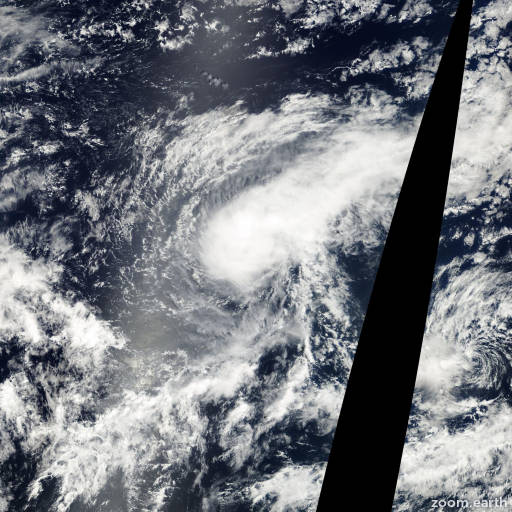 Satellite image of Storm John 2000