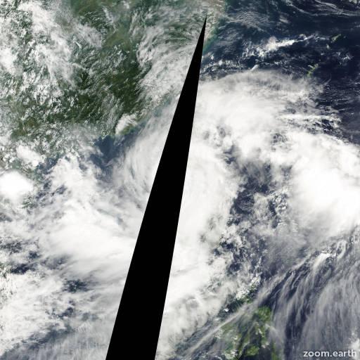 Satellite image of Typhoon Kai-Tak 2000
