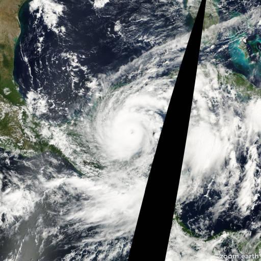 Satellite image of Hurricane Keith 2000