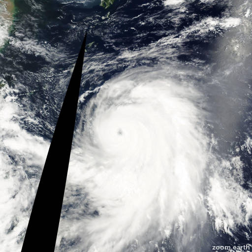 Satellite image of Typhoon Kirogi 2000