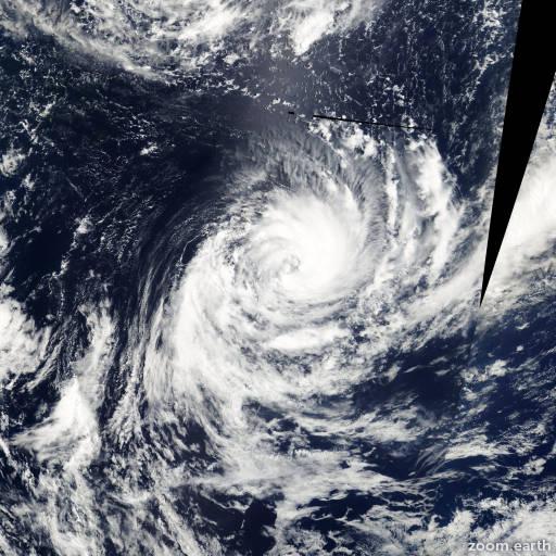Satellite image of Cyclone Leo 2000