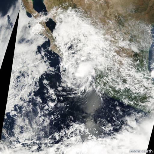 Satellite image of Storm Miriam 2000