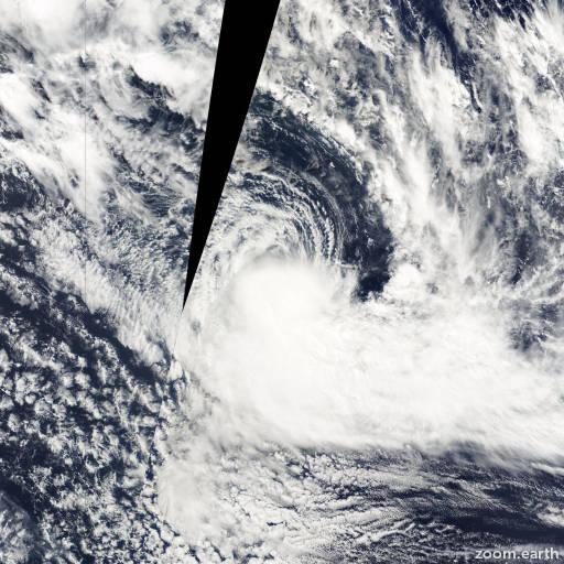 Satellite image of Cyclone Mona 2000