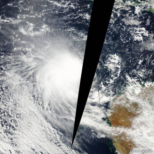 Satellite image of Cyclone Olga 2000