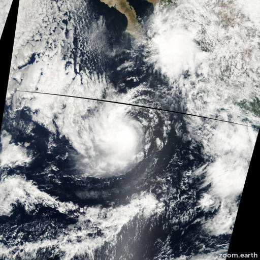 Satellite image of Storm Olivia 2000