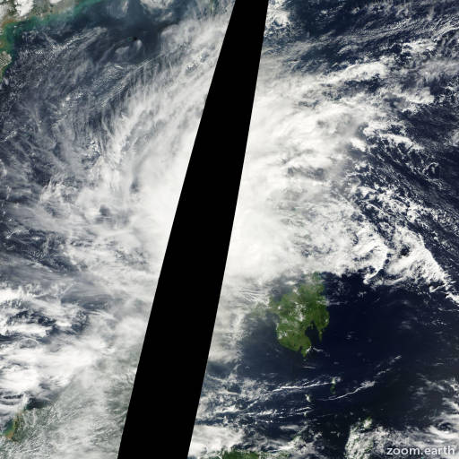 Satellite image of Storm Rumbia 2000