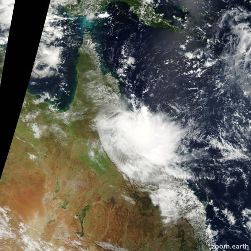 Satellite image of Cyclone Tessi 2000