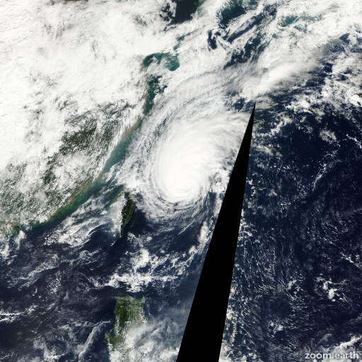 Satellite image of Typhoon Yagi 2000