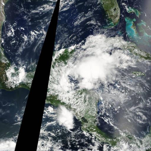 Satellite image of Storm Chantal 2001