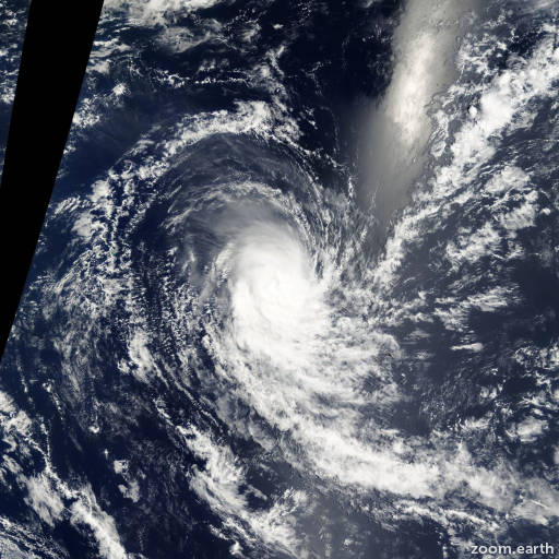 Satellite image of Cyclone Charly 2001