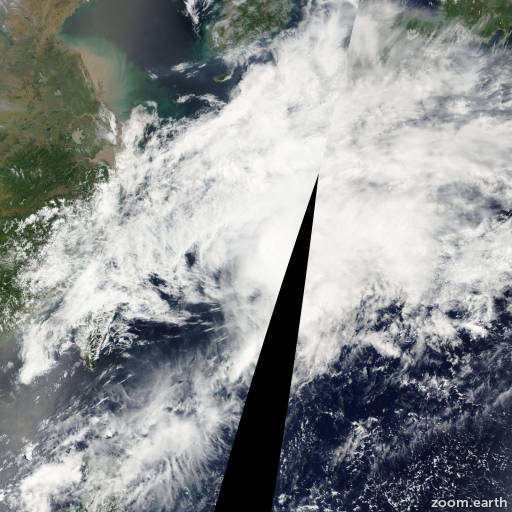 Satellite image of Storm Cimaron 2001