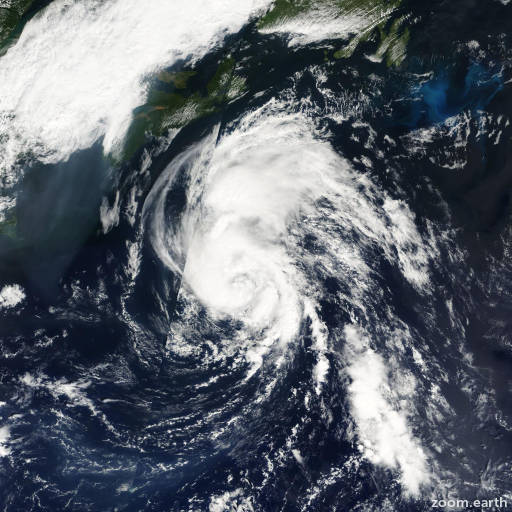 Satellite image of Storm Dean 2001