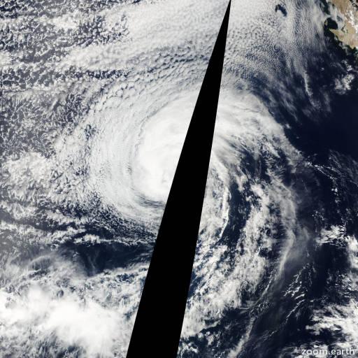 Satellite image of Storm Erick 2001